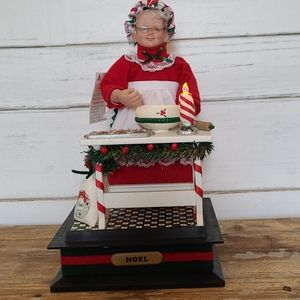 Vintage 1993 holiday creations baking mrs claus